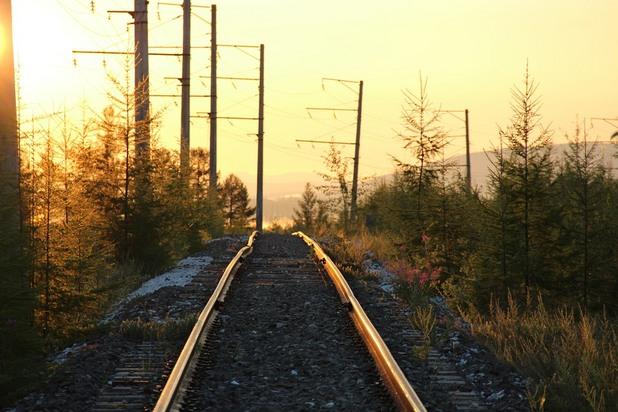 сибир, русия, влак, жп линия