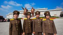 северна корея, жени в армията, жени войници