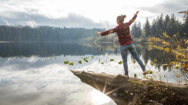 трекинг, разходка, разходка сред природата, езеро, природа