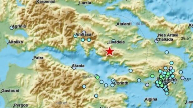атина, земетресение