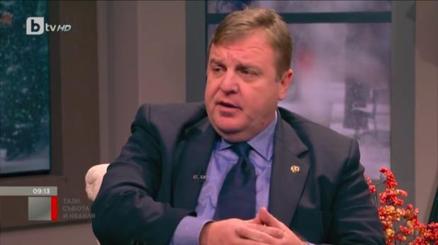 Красимир Каракачанов пред bTV