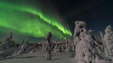 Северното сияние във Финландия