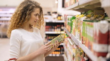 супермаркет, жена в супермаркет