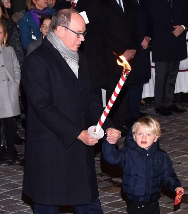 Принц Албер от Монако със сина си - принц Жак