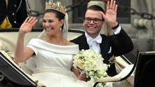 Принцеса Виктория Шведска по време на сватбата й с Даниел Вестлинг
