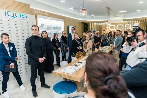 Philip Moriis - откриване на първи специализзиран IQOS магазин