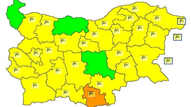 жълт код за силен вятър