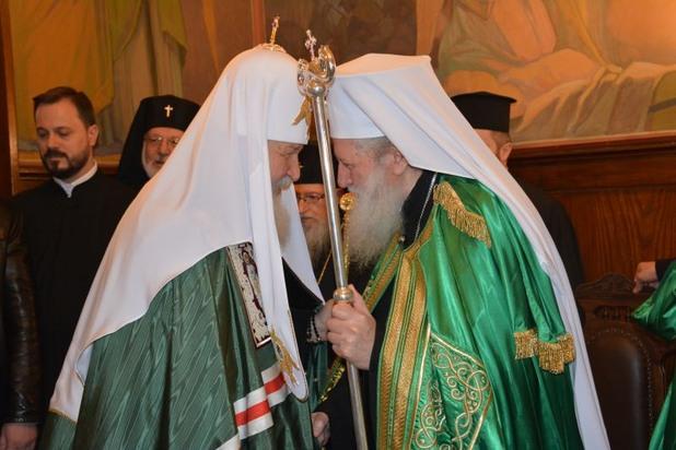 Руският патриарх Кирил и българският патриарх Неофит