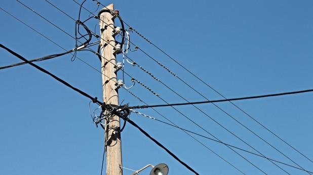стълб с жици
