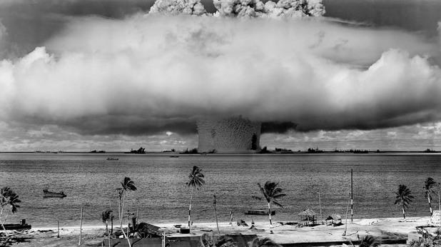 Резултат с изображение за тестването на атомна бомба от 1 килотон.