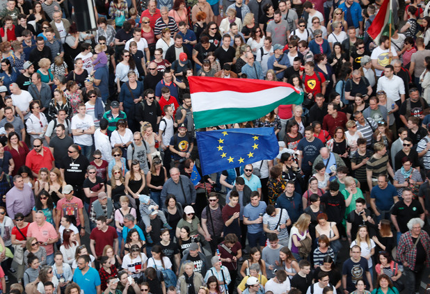 Протест в Будапеща срещу Орбан и ФИДЕС