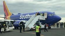 Самолетът на Southwest след инцидента