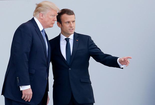 тръмп, доналд тръмп, макрон, еманюел макрон