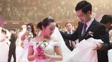 китай, сватба, младоженци, азиатци