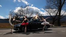 Балерини с Ауди А8