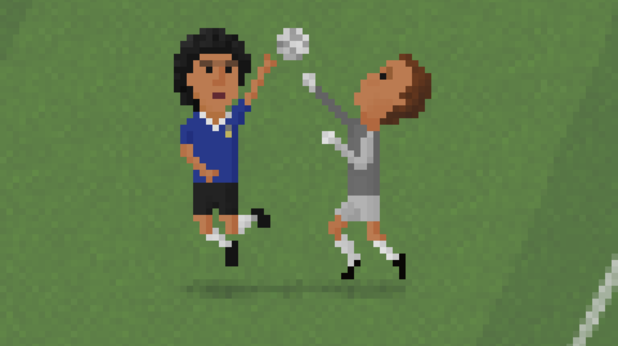 8-битов футбол, пиксели, футбол, 8 бита 5