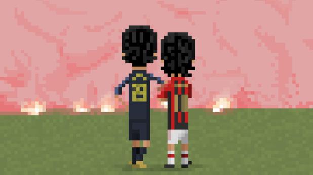 8-битов футбол, пиксели, футбол, 8 бита 7