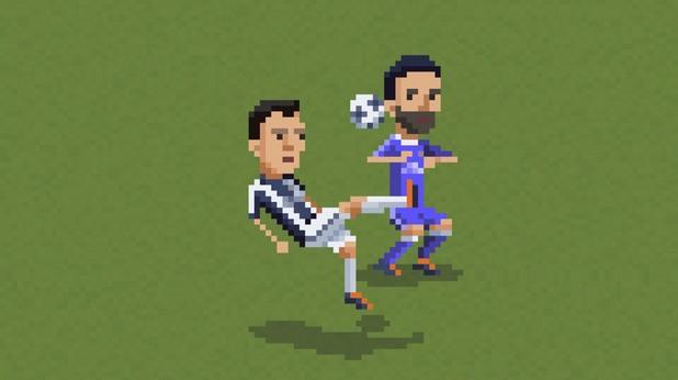 8-битов футбол, пиксели, футбол, 8 бита 14
