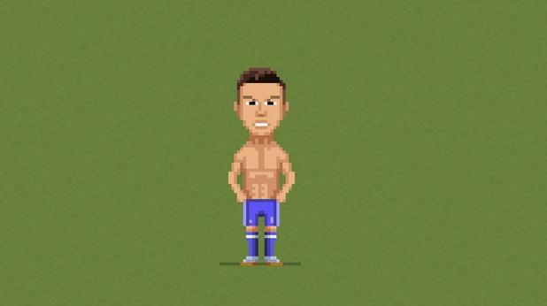 8-битов футбол, пиксели, футбол, 8 бита 15