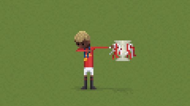 8-битов футбол, пиксели, футбол, 8 бита 17