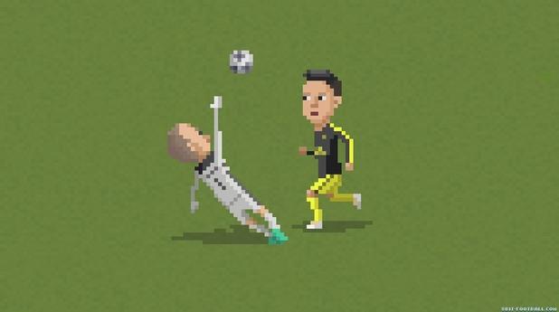 8-битов футбол, пиксели, футбол, 8 бита 20