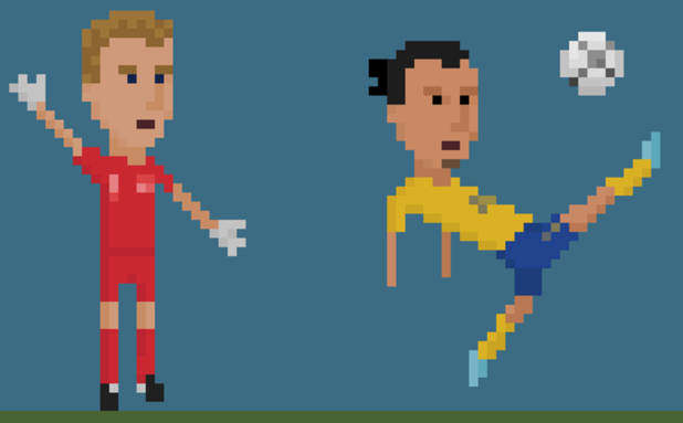 8-битов футбол, пиксели, футбол, 8 бита 21