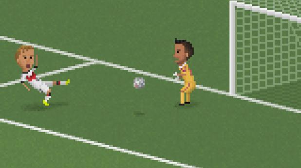 8-битов футбол, пиксели, футбол, 8 бита 9