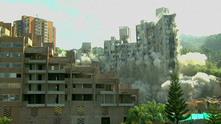 Взривена сграда