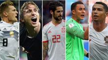 Футболистите на Реал на Мондиал 2018