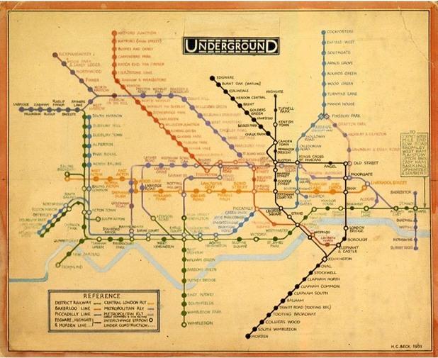 карта на метрото в лондон