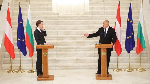Бойко Борисов и Себастиан Курц