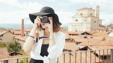пътуване, снимане, мацка с фотоапарат, фотоапарат, турист, туристка