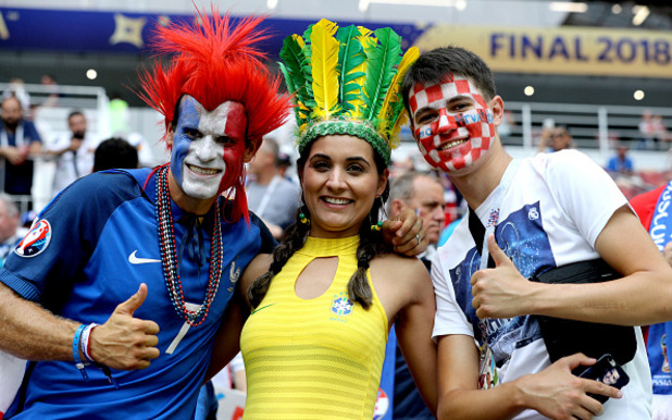 мондиал 2018,русия 2018,световно първенство,фенове, финал, хърватия, франция 3