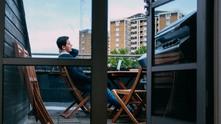 живот сам, тераса, балкон