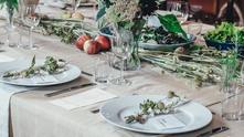 порцеланов сервиз, сервирана маса, обяд, вечеря