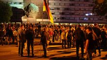 карл маркс,кемниц,неонацисти,протест в кемниц