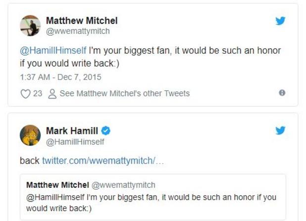 Туитовете на Марк Хамил