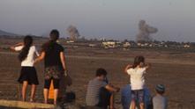 Руски бомбардировки, близо до границата на Сирия и Израел