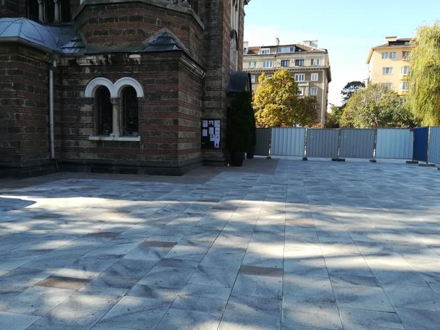 """Ремонт на градинката на църквата """"Свети Седмочисленици"""""""