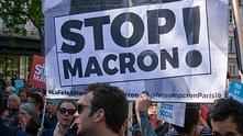 Протест срещу Еманюел Макрон във Франция