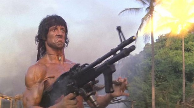 Рамбо с картечницата M60