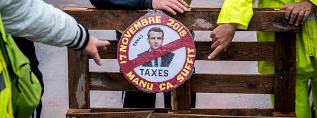 """протест на """"жълтите жилетки"""" срещу цените на горивата"""