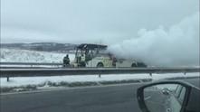 ам тракия - изгорял автобус