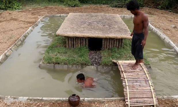 "Primitive Survival Tool - ""Build Swimming Pool Around Underground House"""