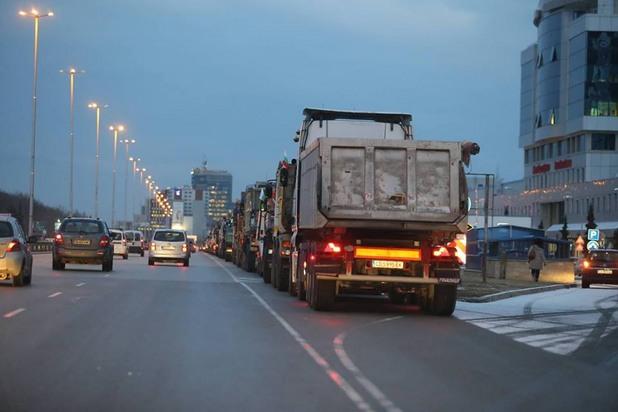 Резултат с изображение за протест строители цариградско шосе