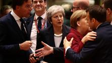 тереза мей по време на среща на европейския съвет