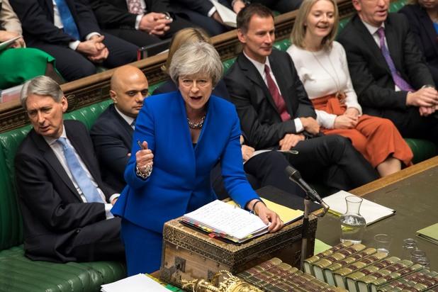 Тереза Мей в британския парламент