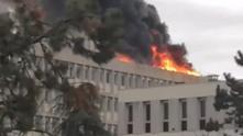 Пожар в университета в лион