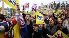 Протест в Лондон срещу Брекзит