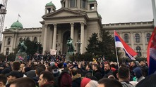 Протести в Белград